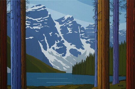 """Looking out at Moraine"""
